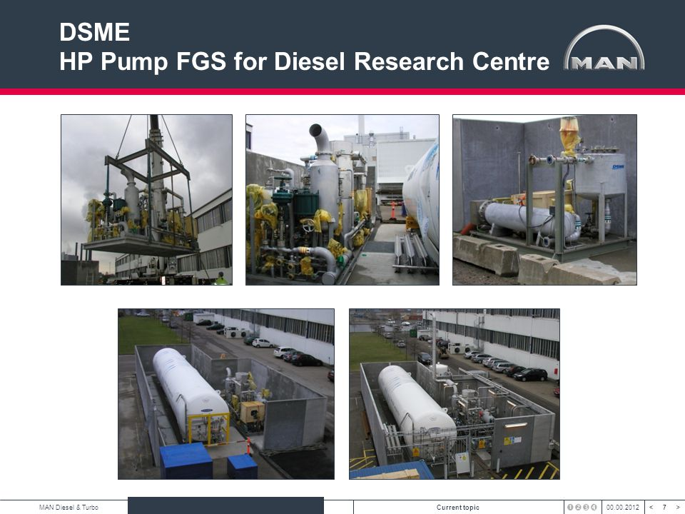 DSME HP Pump FGS for Diesel Research Centre