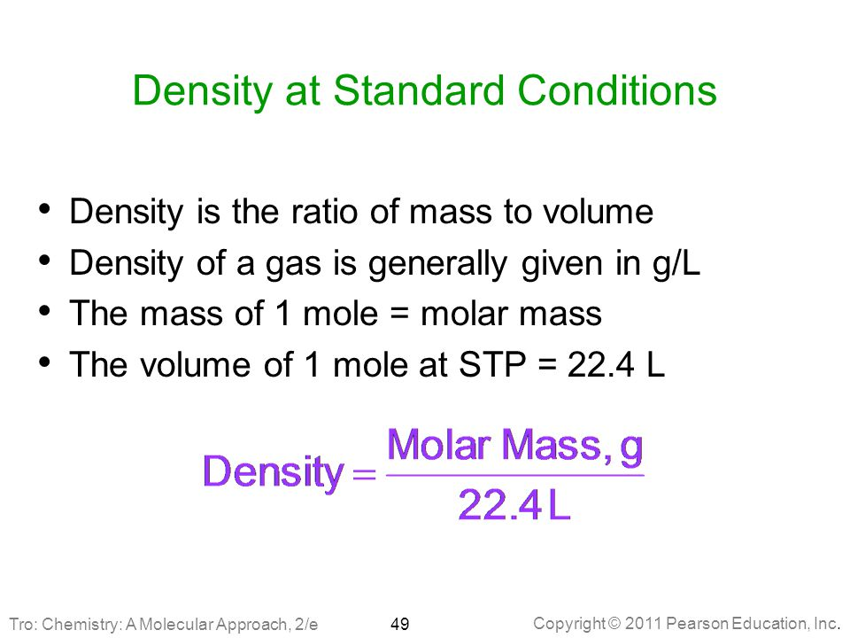 Density at Standard Conditions