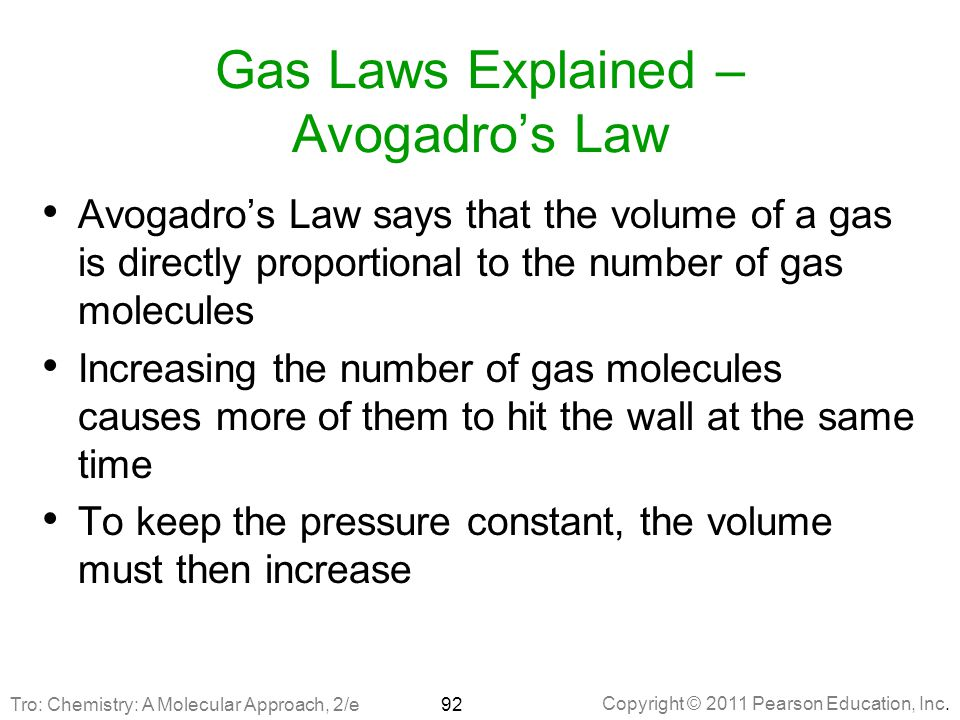 Gas Laws Explained – Avogadro's Law