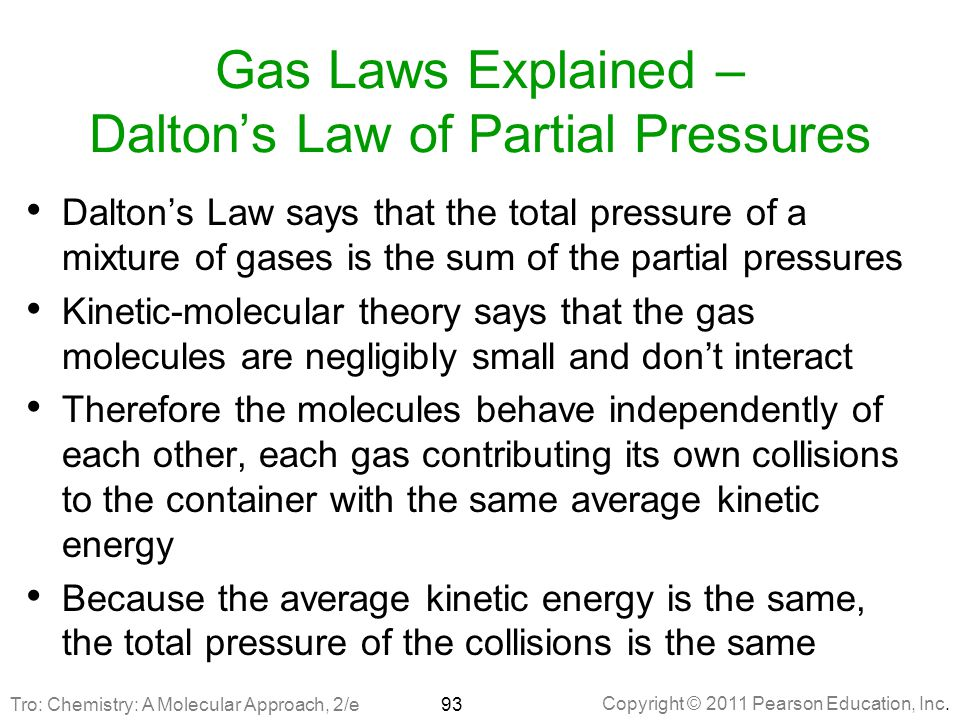 Gas Laws Explained – Dalton's Law of Partial Pressures