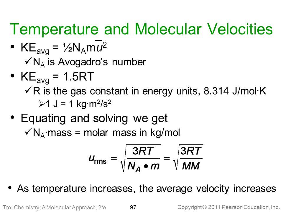 Temperature and Molecular Velocities