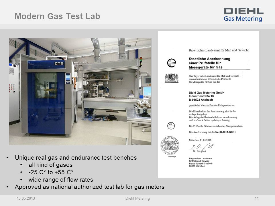 Modern Gas Test Lab Unique real gas and endurance test benches