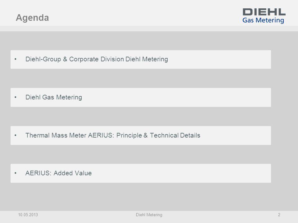 Agenda Diehl-Group & Corporate Division Diehl Metering