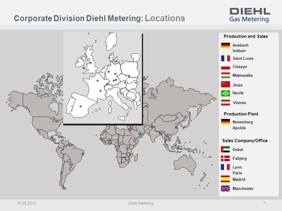 Corporate Division Diehl Metering: Locations