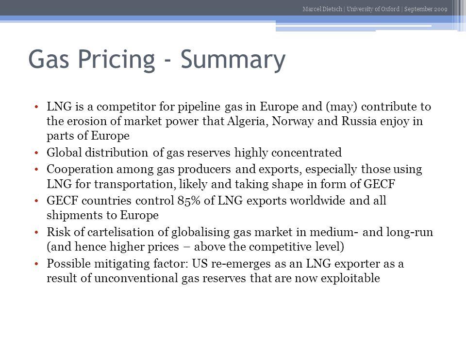 Gas Pricing - Summary