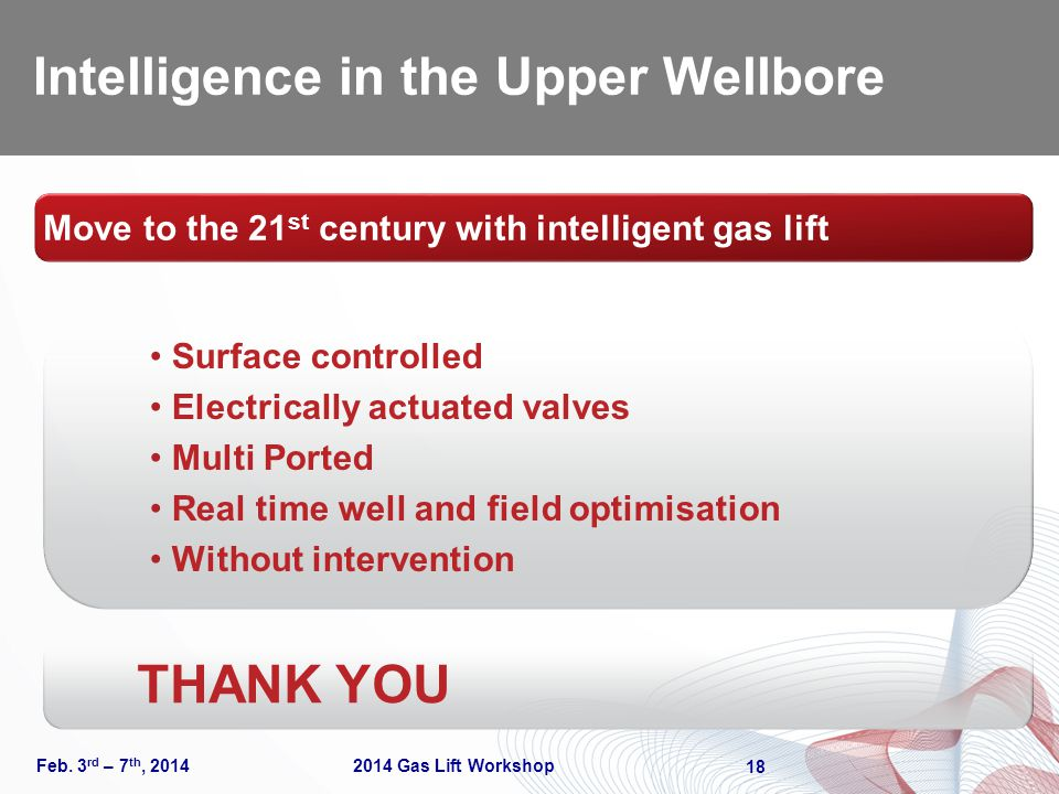 Intelligence in the Upper Wellbore