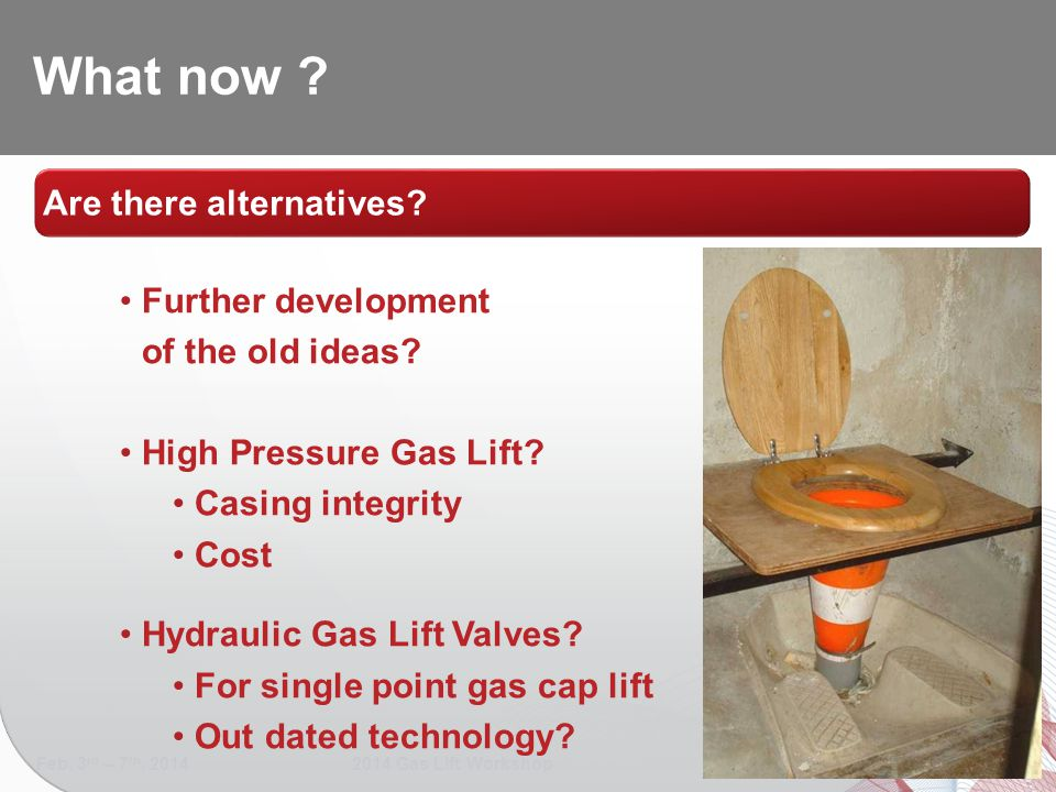 What now Are there alternatives Further development