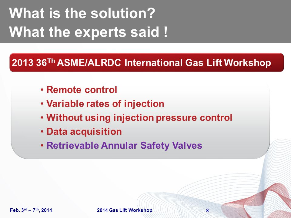 What is the solution What the experts said !