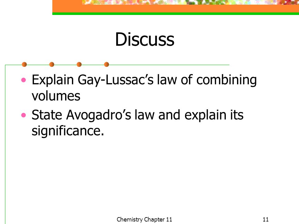 Discuss Explain Gay-Lussac's law of combining volumes