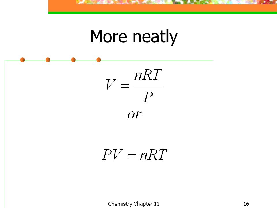 More neatly Chemistry Chapter 11