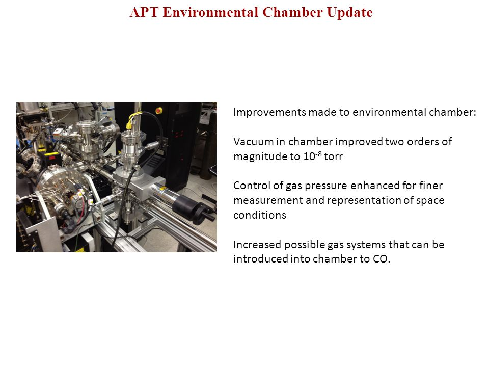 APT Environmental Chamber Update