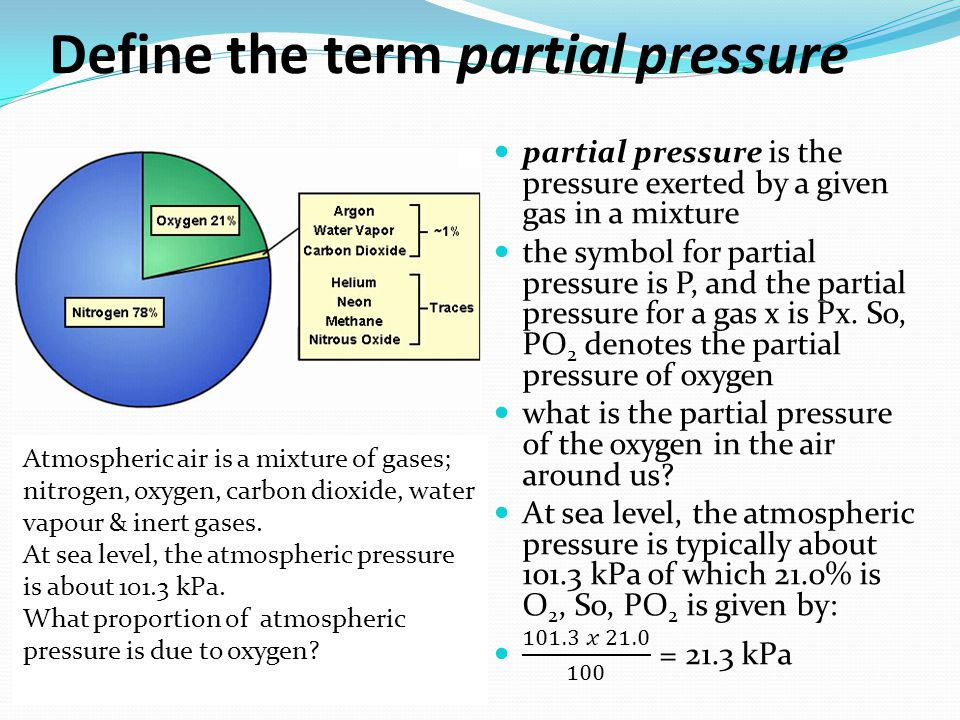Define the term partial pressure