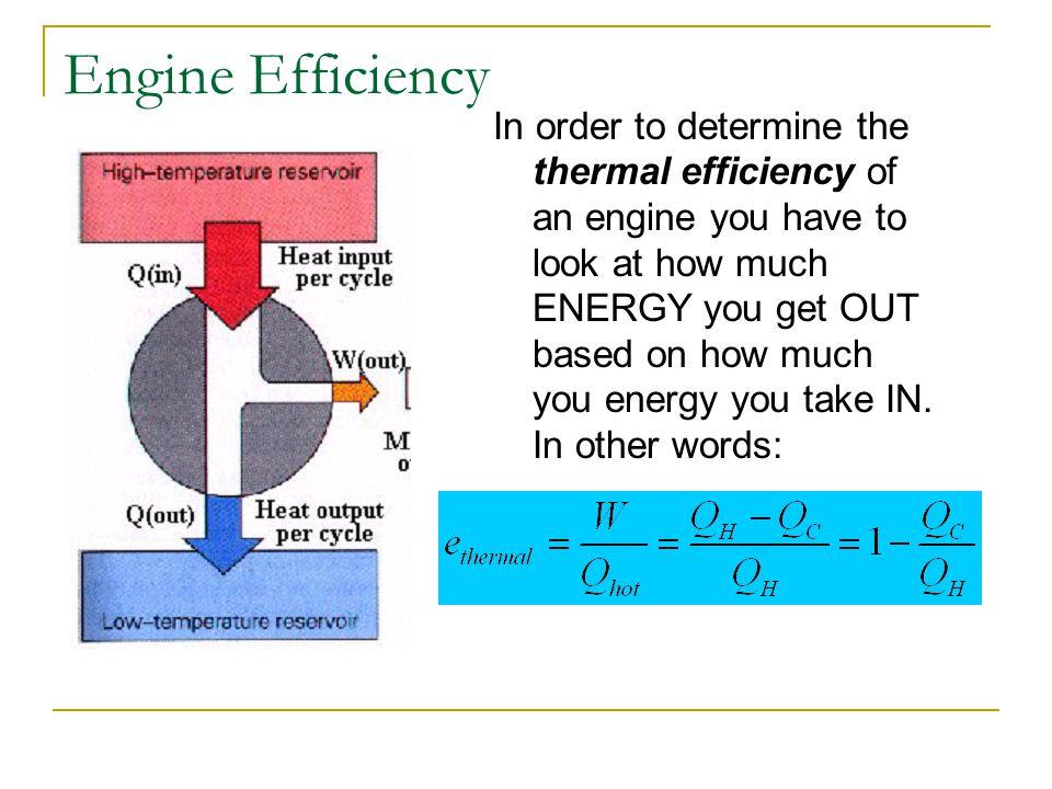 Engine Efficiency