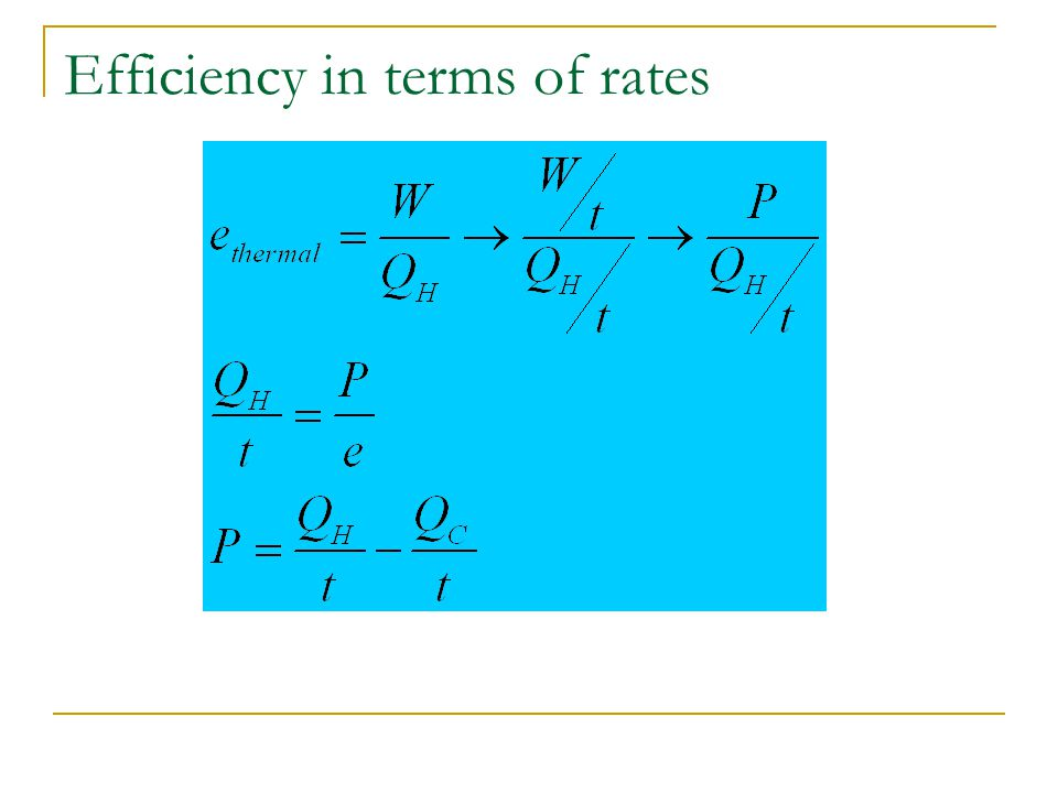 Efficiency in terms of rates