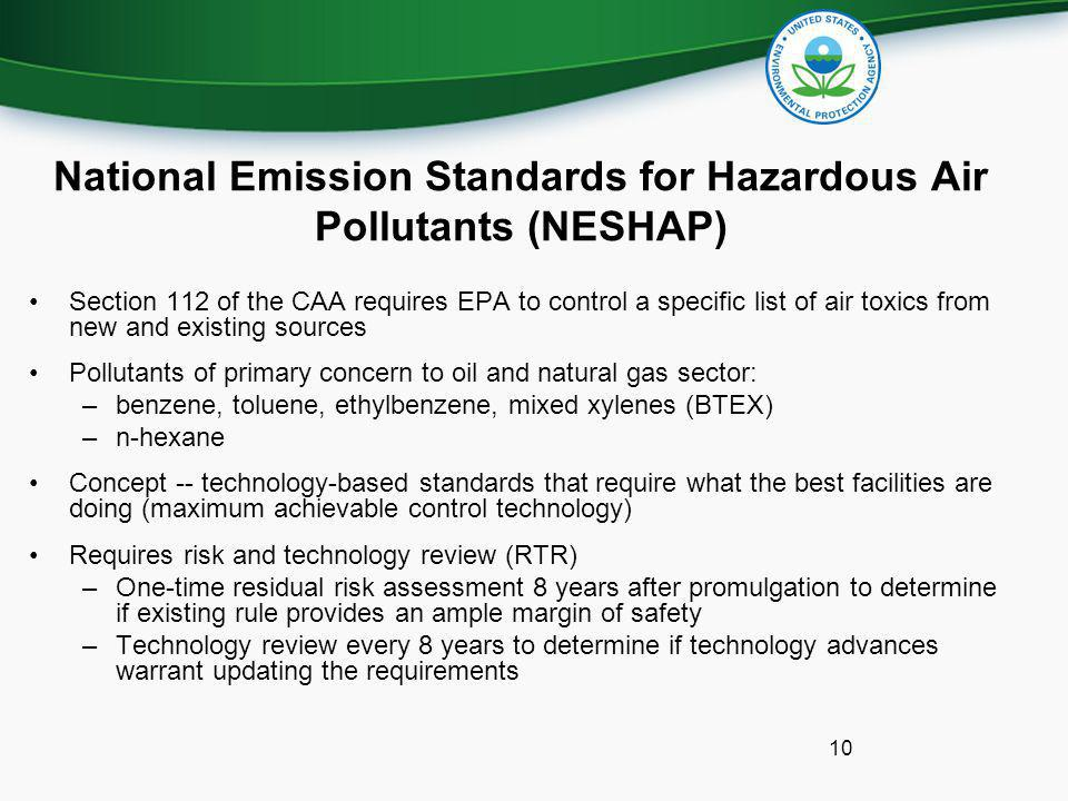 National Emission Standards for Hazardous Air Pollutants (NESHAP)