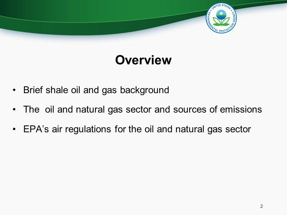 Overview Brief shale oil and gas background
