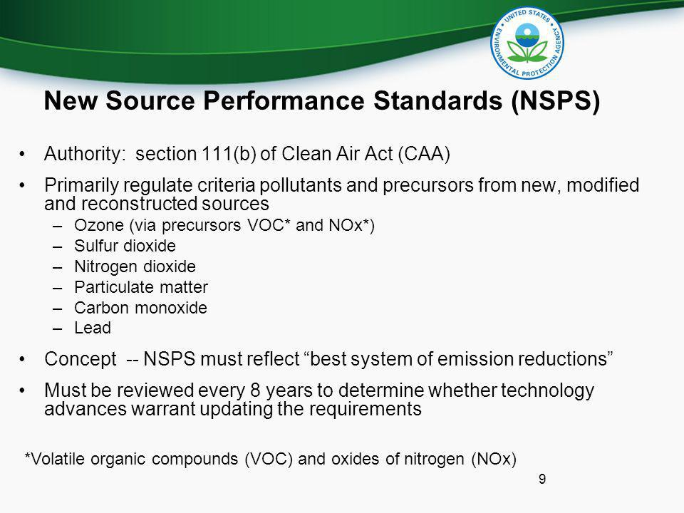 New Source Performance Standards (NSPS)