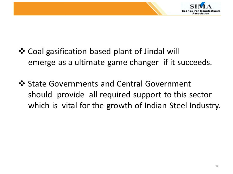 Coal gasification based plant of Jindal will