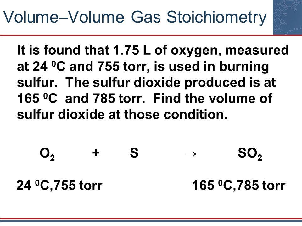 Volume–Volume Gas Stoichiometry