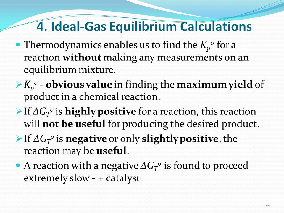 4. Ideal-Gas Equilibrium Calculations
