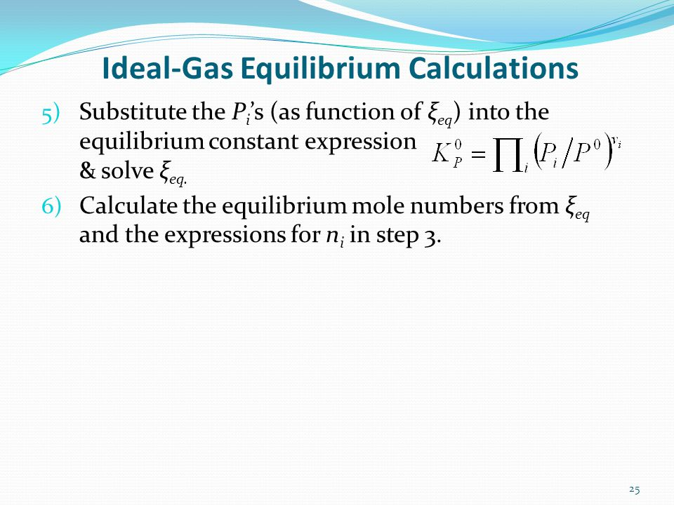 Ideal-Gas Equilibrium Calculations