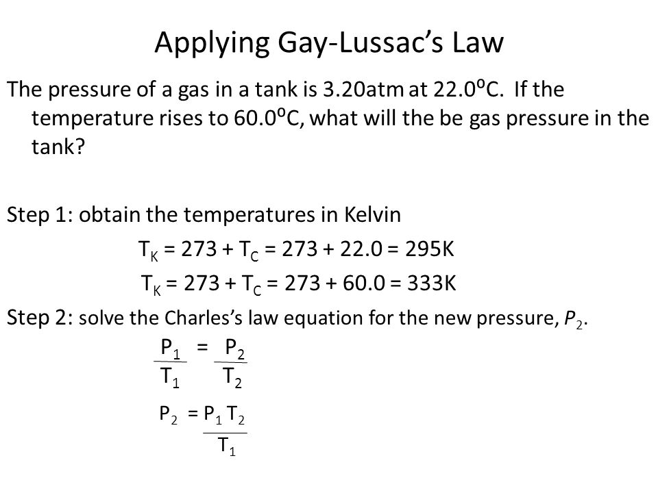Applying Gay-Lussac's Law