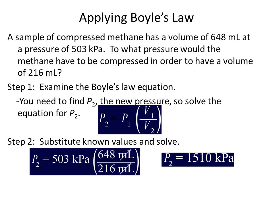 Applying Boyle's Law