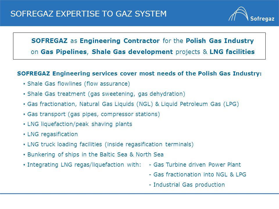 SOFREGAZ EXPERTISE TO GAZ SYSTEM