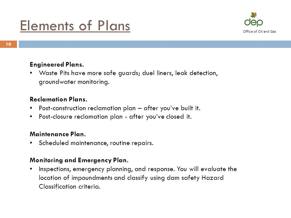 Elements of Plans Engineered Plans.