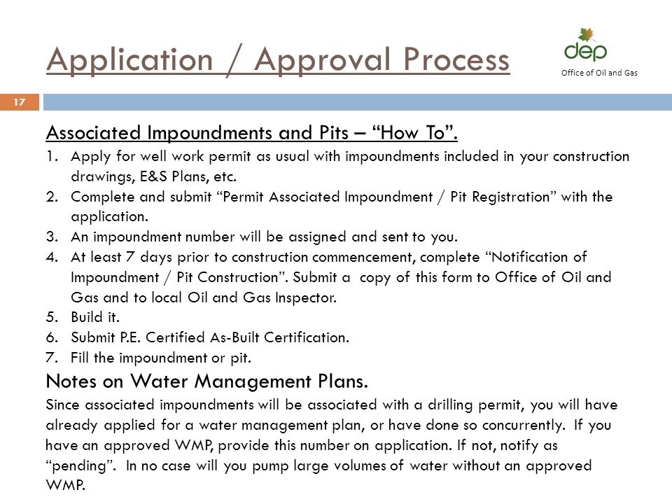 Application / Approval Process