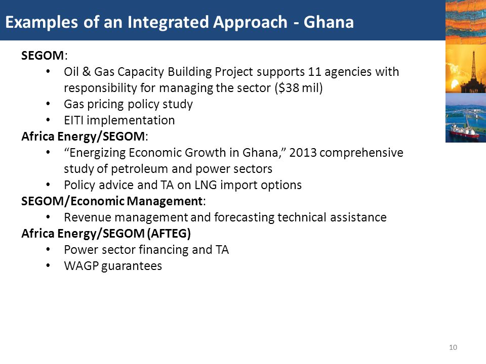 Gas pricing policy study EITI implementation Africa Energy/SEGOM: