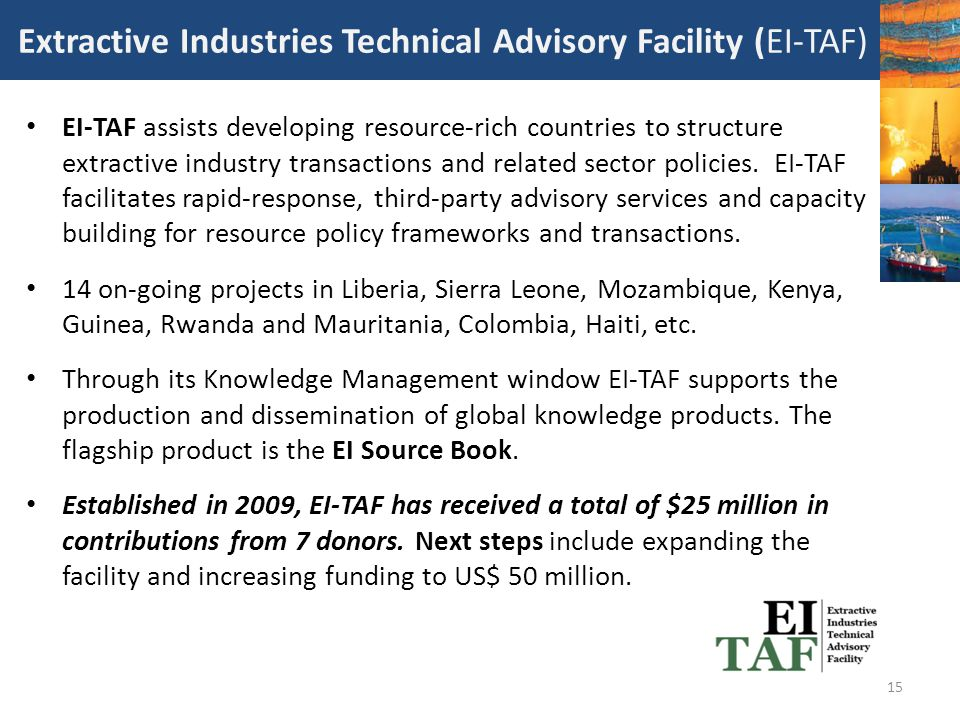 Extractive Industries Technical Advisory Facility (EI-TAF)