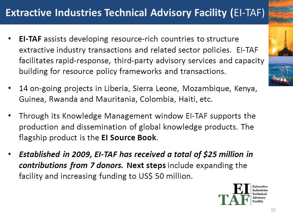Extractive Industries Technical Advisory Facility (EI-TAF)