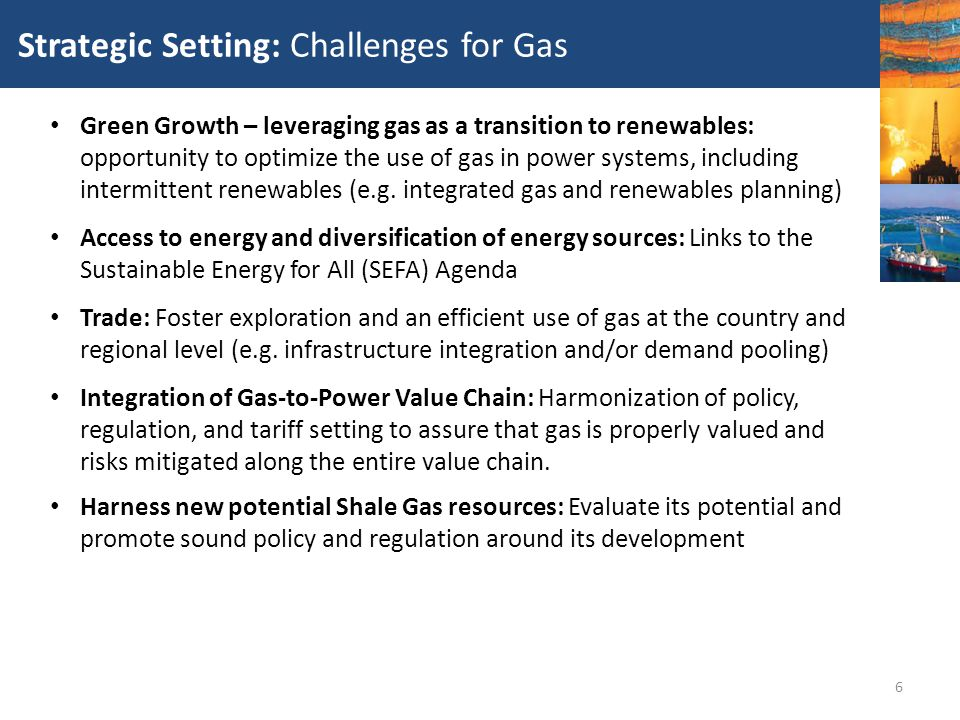 Strategic Setting: Challenges for Gas