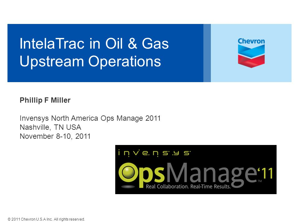 IntelaTrac in Oil & Gas Upstream Operations