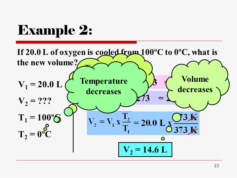 Temperatures must be in K Temperature decreases