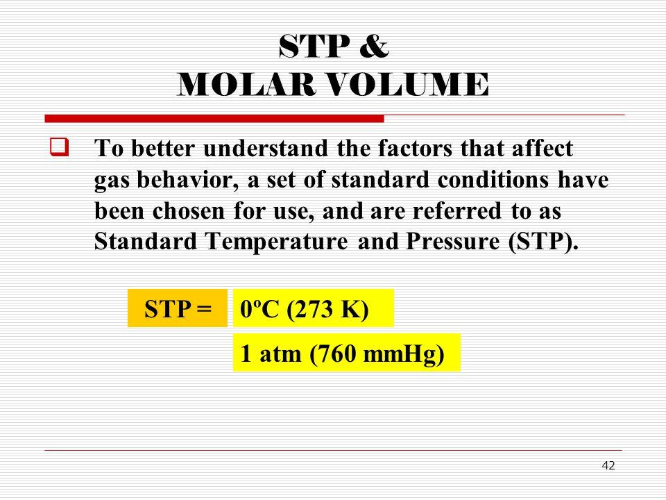 STP & MOLAR VOLUME