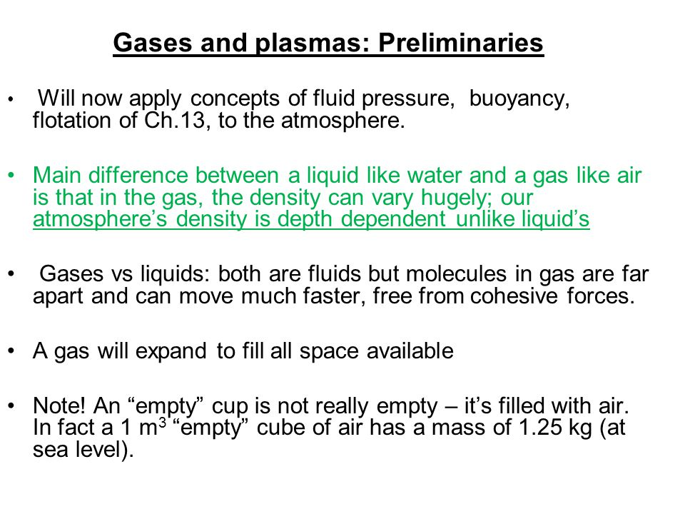 Gases and plasmas: Preliminaries