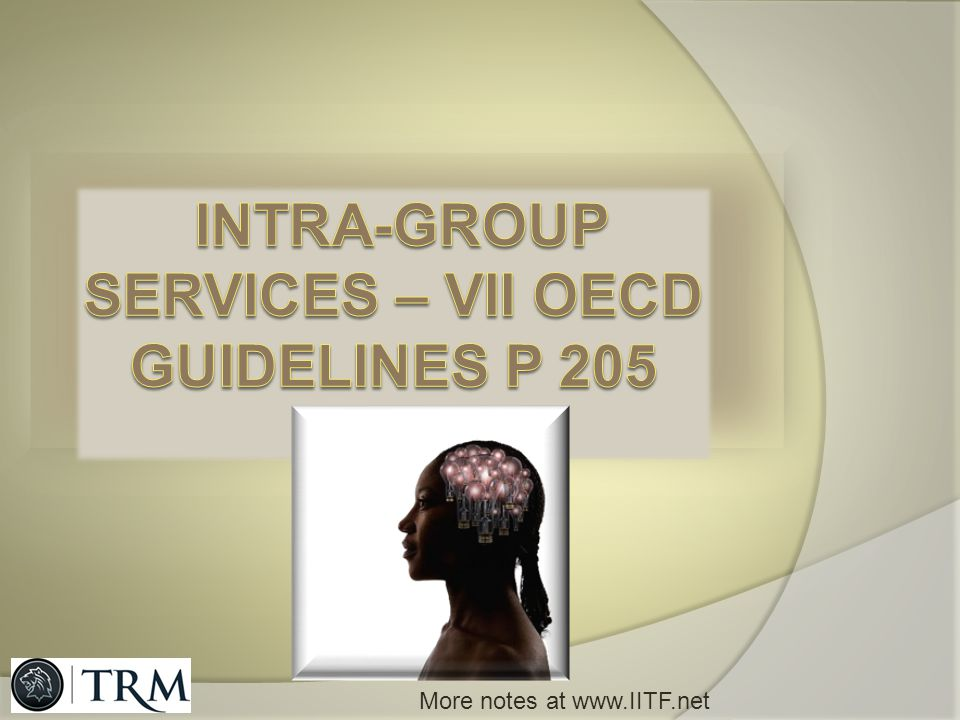 INTRA-GROUP SERVICES – VII OECD GUIDELINES p 205
