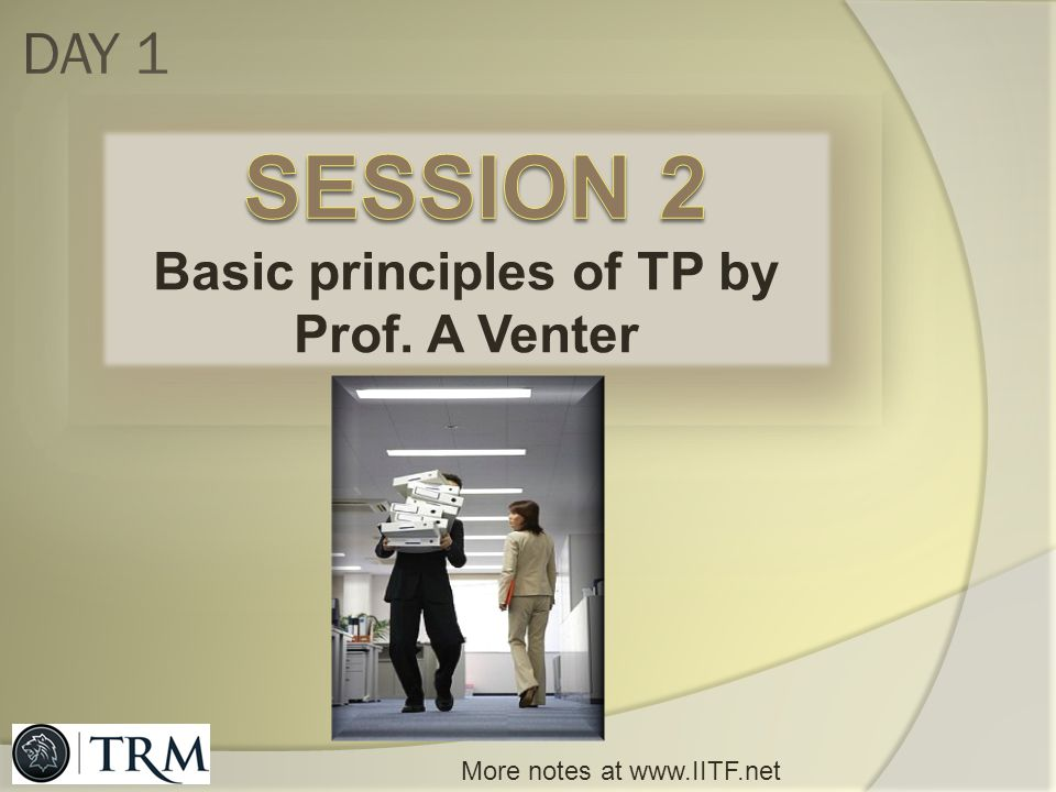 Basic principles of TP by Prof. A Venter