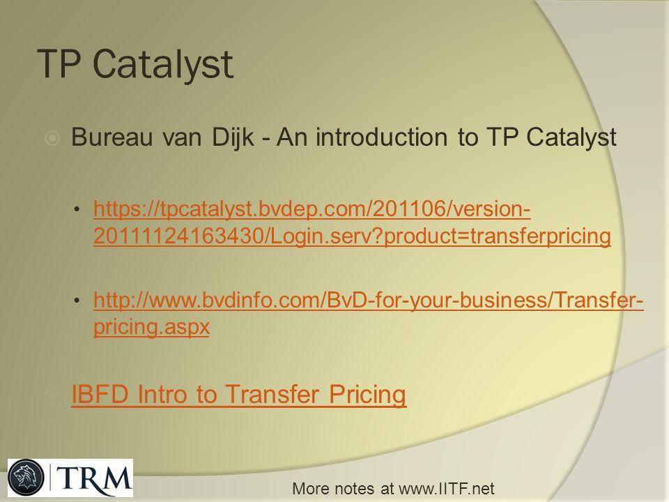 TP Catalyst Bureau van Dijk - An introduction to TP Catalyst