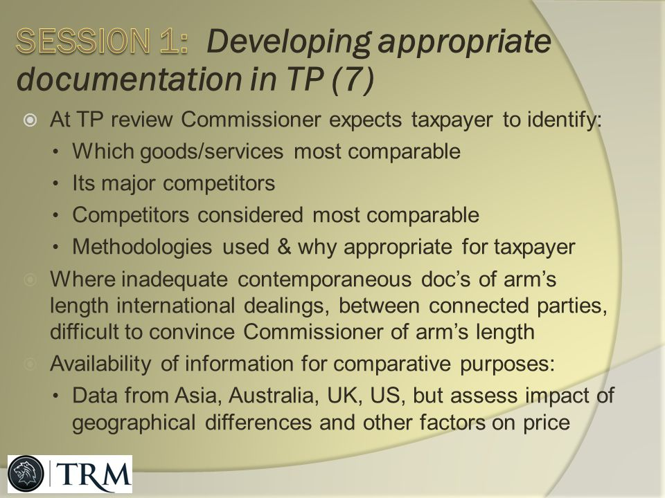 Session 1: Developing appropriate documentation in TP (7)