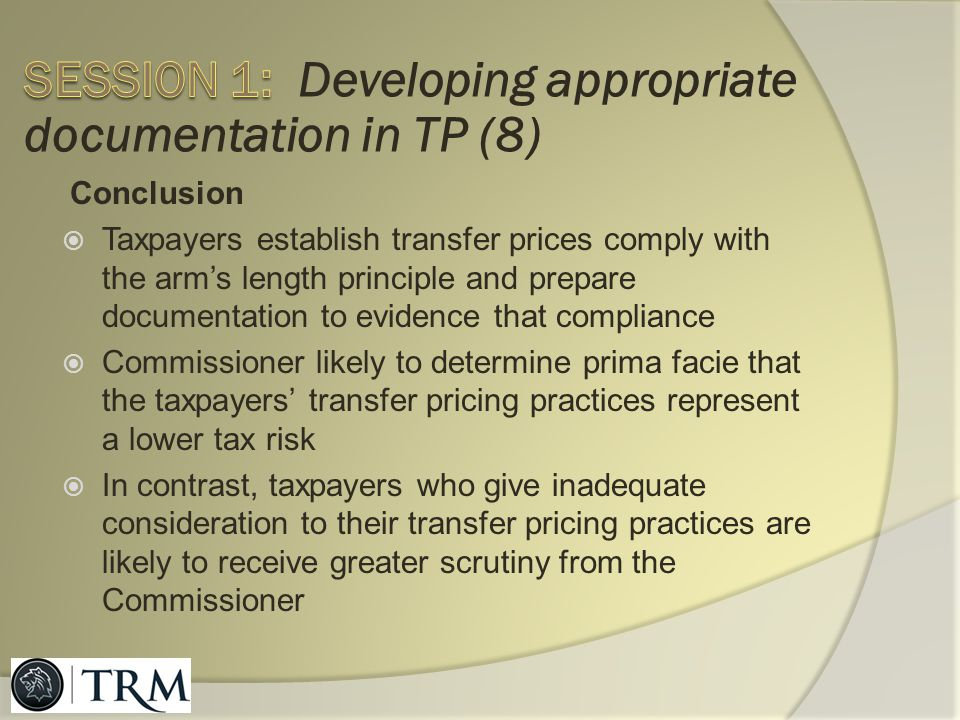 Session 1: Developing appropriate documentation in TP (8)