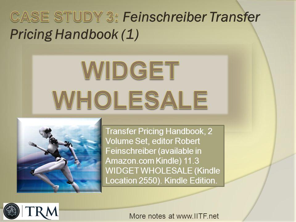 CASE STUDY 3: Feinschreiber Transfer Pricing Handbook (1)