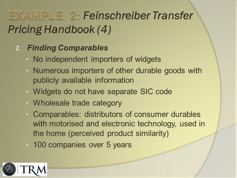 EXAMPLE 2: Feinschreiber Transfer Pricing Handbook (4)