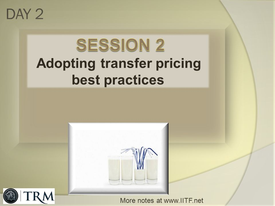 Adopting transfer pricing best practices