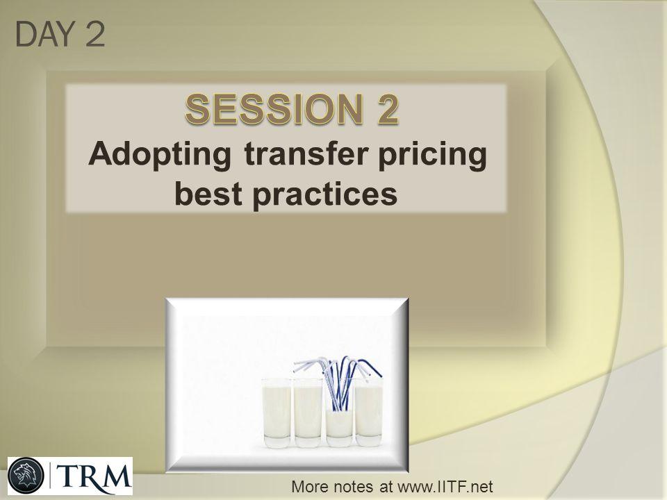 Adopting transfer pricing best practices