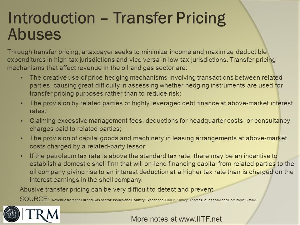 Introduction – Transfer Pricing Abuses
