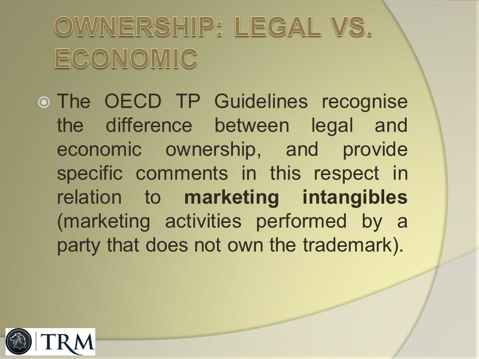 Ownership: legal vs. economic