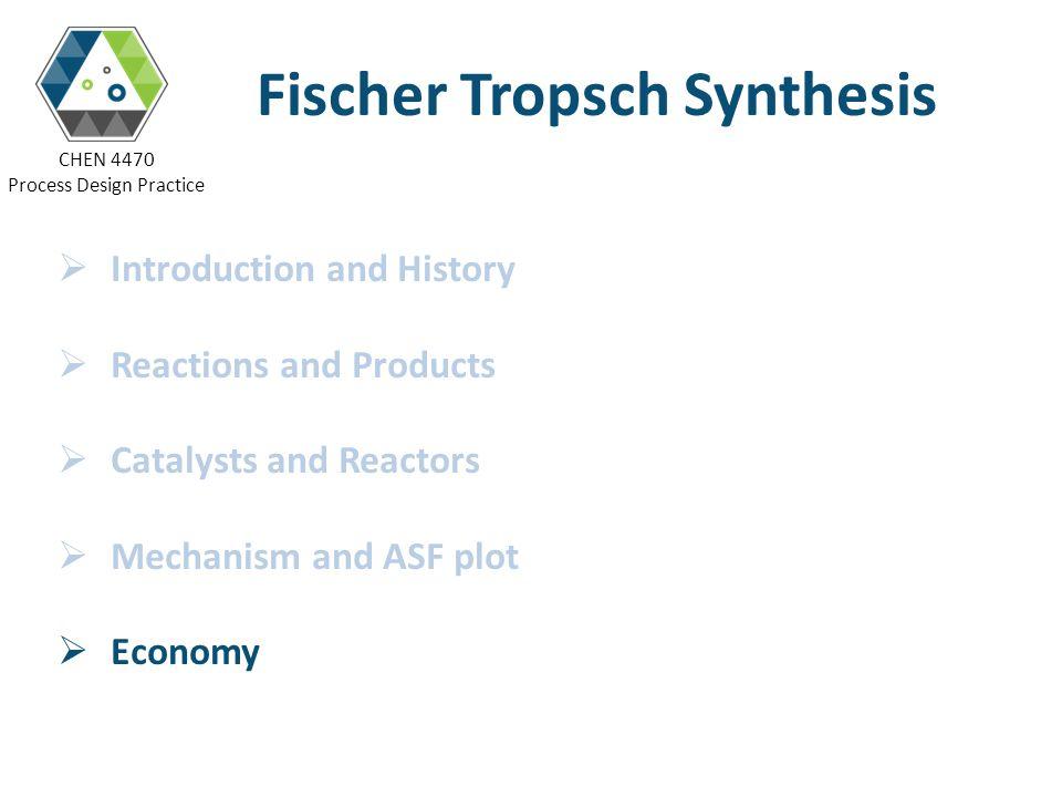 Fischer Tropsch Synthesis